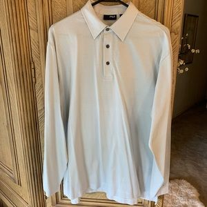 NWOT- Fila 3 Button long sleeve pullover pinstripe
